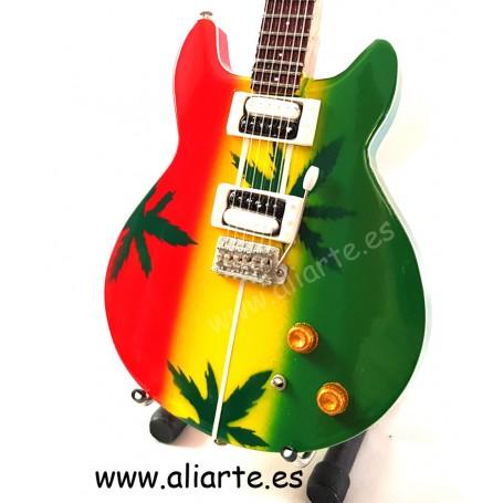 Miniatura de guitarra de Bob Marley
