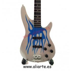 Miniatura  Bajo Robert Trujillo Metallica, Blue Flame