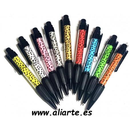 Bolígrafo negro Pentagrama