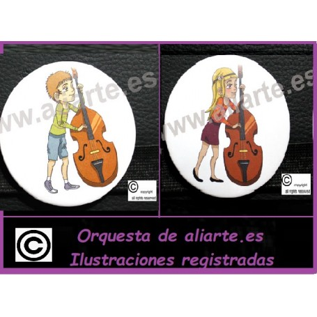 Contrabajo Chapa Orquesta Aliarte