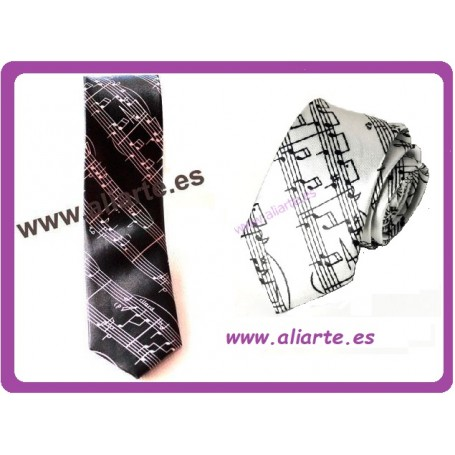Corbata Pentagrama Blanca o negra
