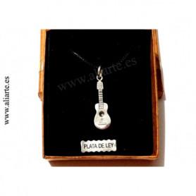Colgante Guitarra de plata
