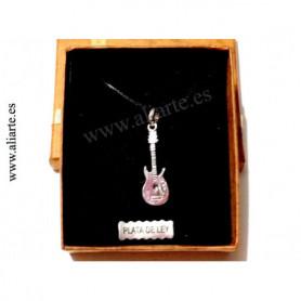 Colgante Guitarra Eléctrica de plata
