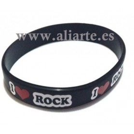 Pulsera I love Rock Blanca