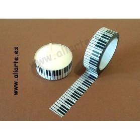 Cinta Adhesiva con motivos teclado +regalo vela