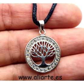 Colgante Árbol de la Vida PLATA con Circonitas