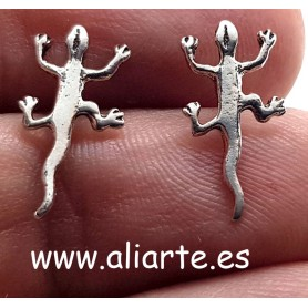 Salamandra Pendientes Plata