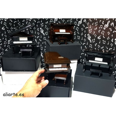 Caja de música de miniatura de piano de Cola o Vertical