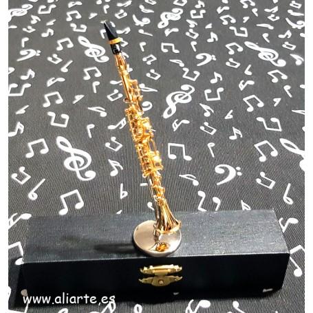 Miniatura de Saxofón Soprano