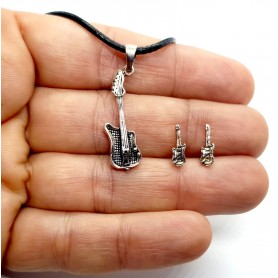 Conjunto Guitarra  Eléctrica de Plata de Ley