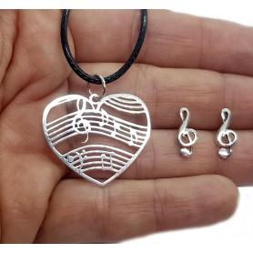 Conjunto corazón pentagrama