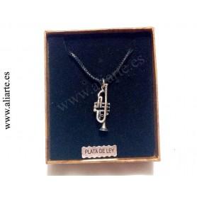 Colgante trompeta 2 de plata