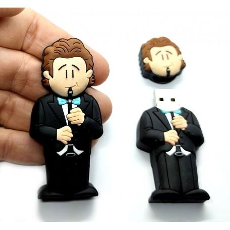 Pen USB en forma de clarinetista