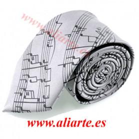 Corbata Pentagrama gris