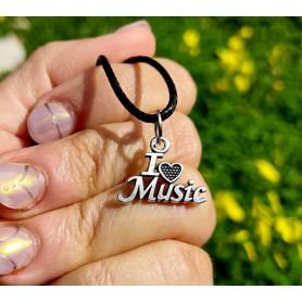 "Colgante ""I love music"""