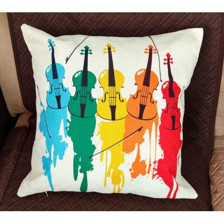 Cojín música violines (FUNDA)