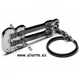 Llavero Guitarra doble Neck