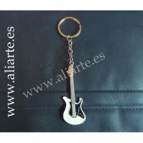 Llavero Guitarra Eléctrica blanca