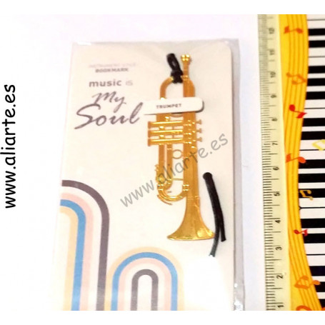 Marca partituras-páginas trompeta