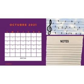 Calendario Mensual OCTUBRE 2021