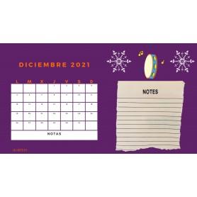 Calendario Mensual DICIEMBRE 2021