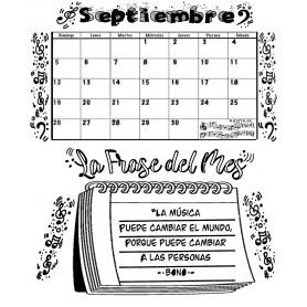 Calendario Mensual SEPTIEMBRE con frase del Mes   2021