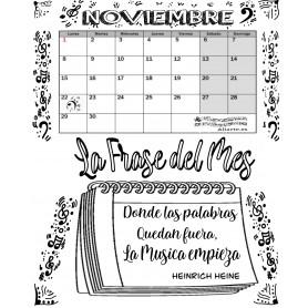 Calendario Mensual NOVIEMBRE con Frase del Mes   2021