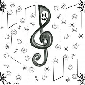 Banderines Halloween, Clave de Sol Terrorífica