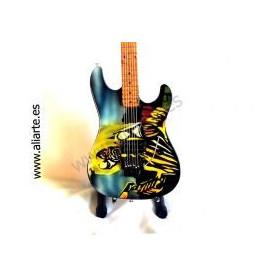 Miniatura de guitarra de Iron Maiden