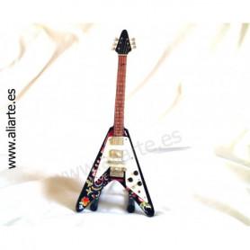 Miniatura de guitarra de Jimi Hendrix psychedelic fly v