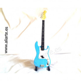 Miniatura de bajo Fender precision Bass Blue-Iron Maiden, Steve Harris