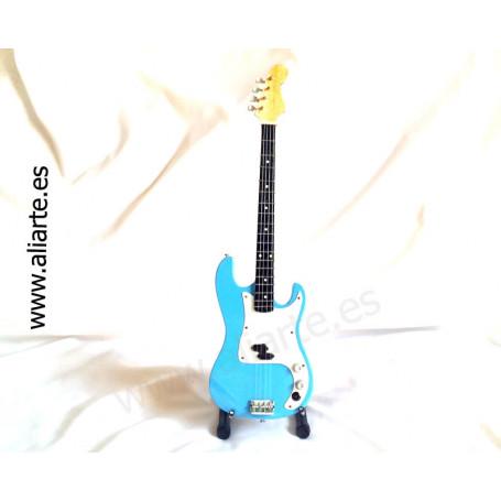 Miniatura de bajo Fender precision Bass Blue-Iron Maiden, Steve Harris