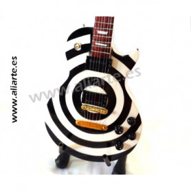 Miniatura de Guitarra de Zakk Wylde Bullseye White and Black