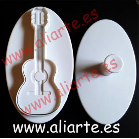 Molde en forma de guitarra