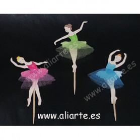 Palillos decorar cakes bailarinas