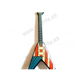 Pin guitarra Flying V-2