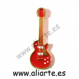 Pin guitarra roja 1