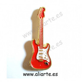 Pin guitarra roja 2