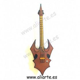 Pin guitarra marrón