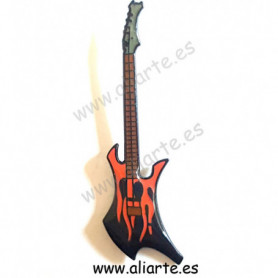 Pin guitarra roja y negra