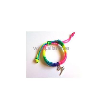 Pulsera Arco iris Clave de Fa