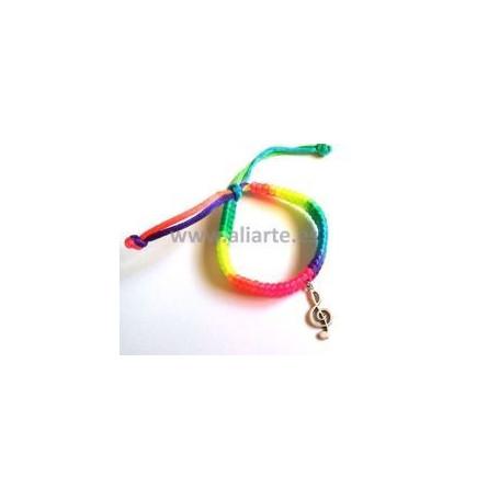 Pulsera Arco iris Clave de Sol