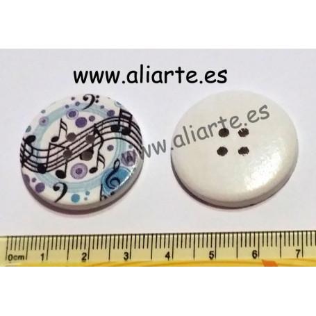Botones grandes con motivos musicales