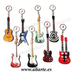 Llavero de Guitarra de madera